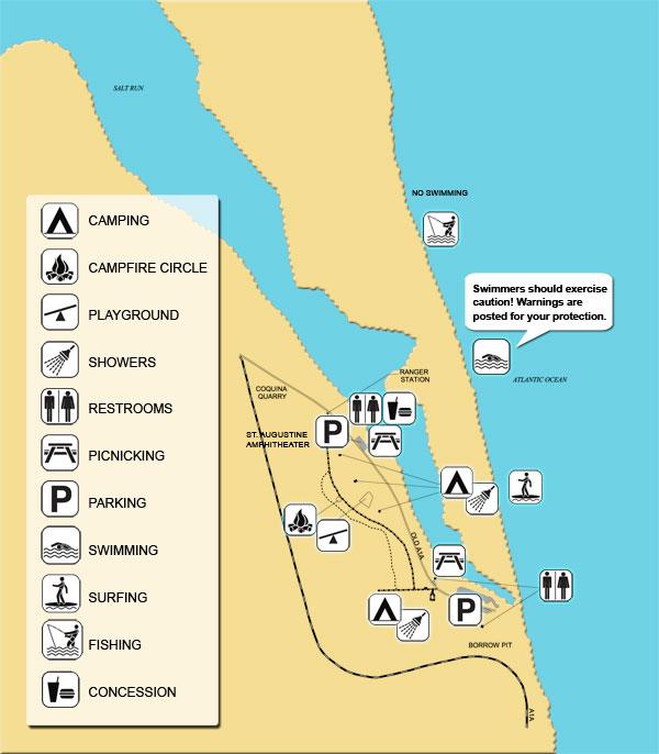 anastasia state park map